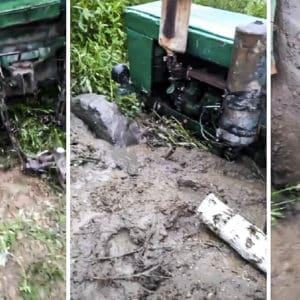 Truco infalible para sacar un vehículo atrapado en el barro: el vídeo que arrasa en TikTok