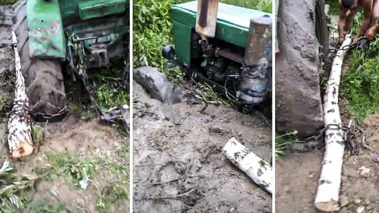 tractor tronco