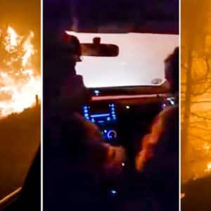 El angustioso momento en el que varios bomberos son cercados por el incendio de Ávila: «¡Estamos rodeados!»