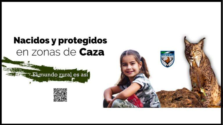 Uno de los mensajes que pretenden acercar la caza a los extremeños. © Fedexcaza