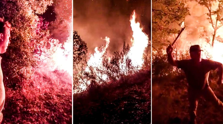 15 cazadores apagan un incendio antes de que lleguen los bomberos en Cáceres