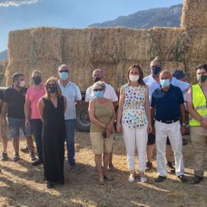 Vox entrega 35.000 kilos de forraje a los ganaderos afectados por el incendio de Navalacruz