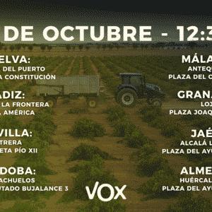 VOX convoca concentraciones a favor de la caza por toda Andalucía para el sábado 2 de octubre