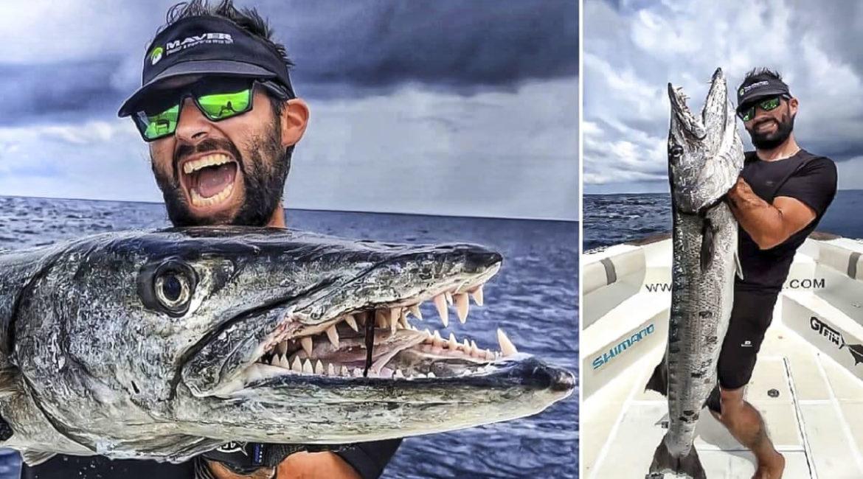 Un pescador sevillano captura una gigantesca barracuda de 20 kilos