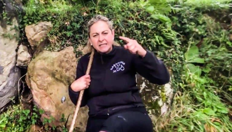 La ganadera, durante el vídeo. © Facebook
