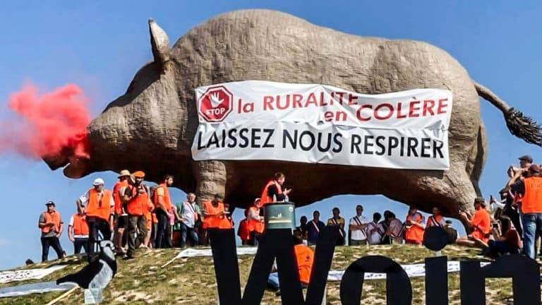 cazadores franceses manifestación