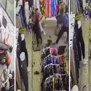 Un jabalí se cuela en una tienda y ataca a varias personas