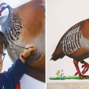 Esta artista pinta increíbles murales en su pueblo con especies de caza y silvestrismo