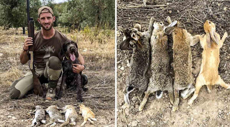 Este es el sorprendente color de los conejos que capturó este cazador