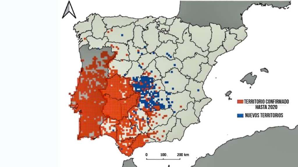 Mapa de la distribución actual. © IREC
