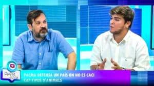 Un joven cazador deja en evidencia a un veterano animalista de PACMA en un debate de 8TV