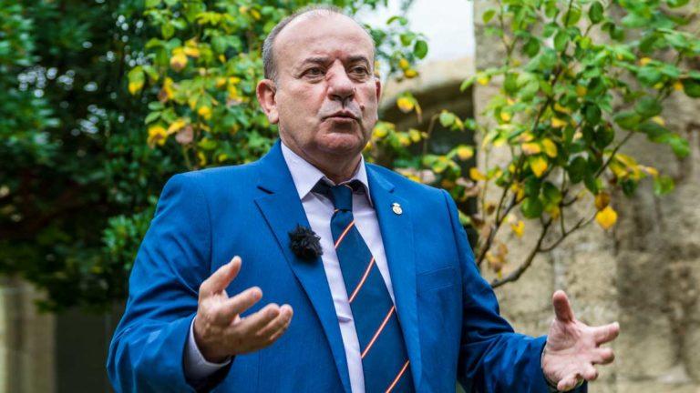 Manuel Gallardo, presidente de la RFEC, durante la entrevista. © Israel Hernández