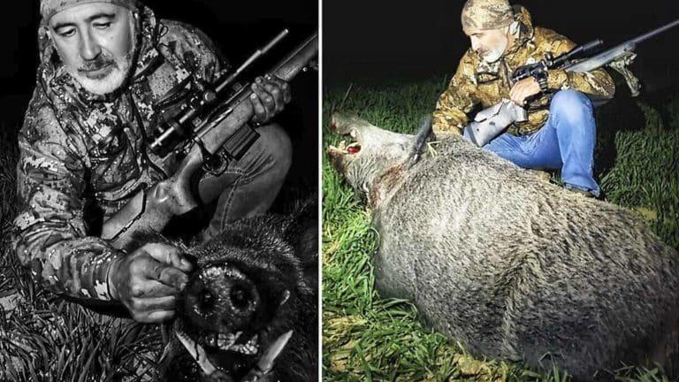 caza enorme jabalí 159 kilos