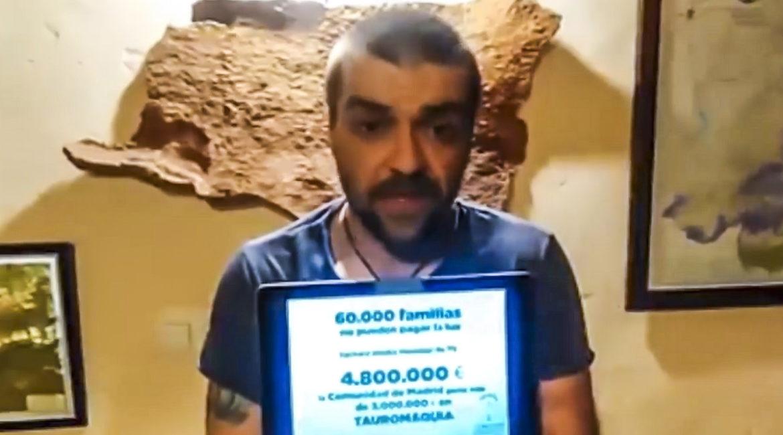 El vídeo de Sergio García Torres en 2016 sobre el precio de la luz que ahora lo deja en evidencia