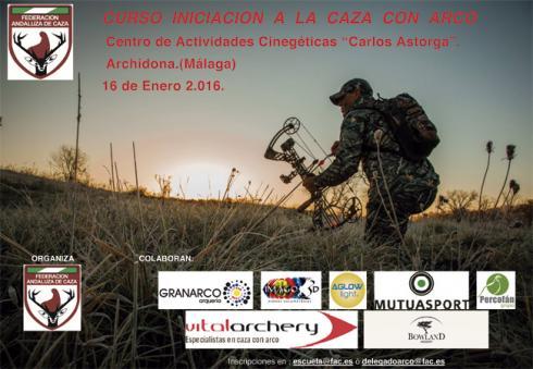 La Escuela de Caza de la Federación Andaluza celebrará un curso de iniciación a la caza con arco el 16 de enero