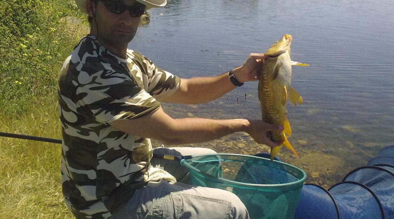 Pescar a la inglesa en río