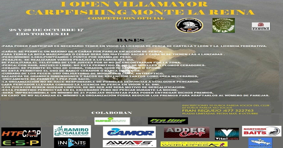 I open Villamayor carpfishing Monte la Reina