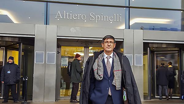 Pedro Morrás, Secretario General de la FSA, durante una de sus visitas a Bruselas.