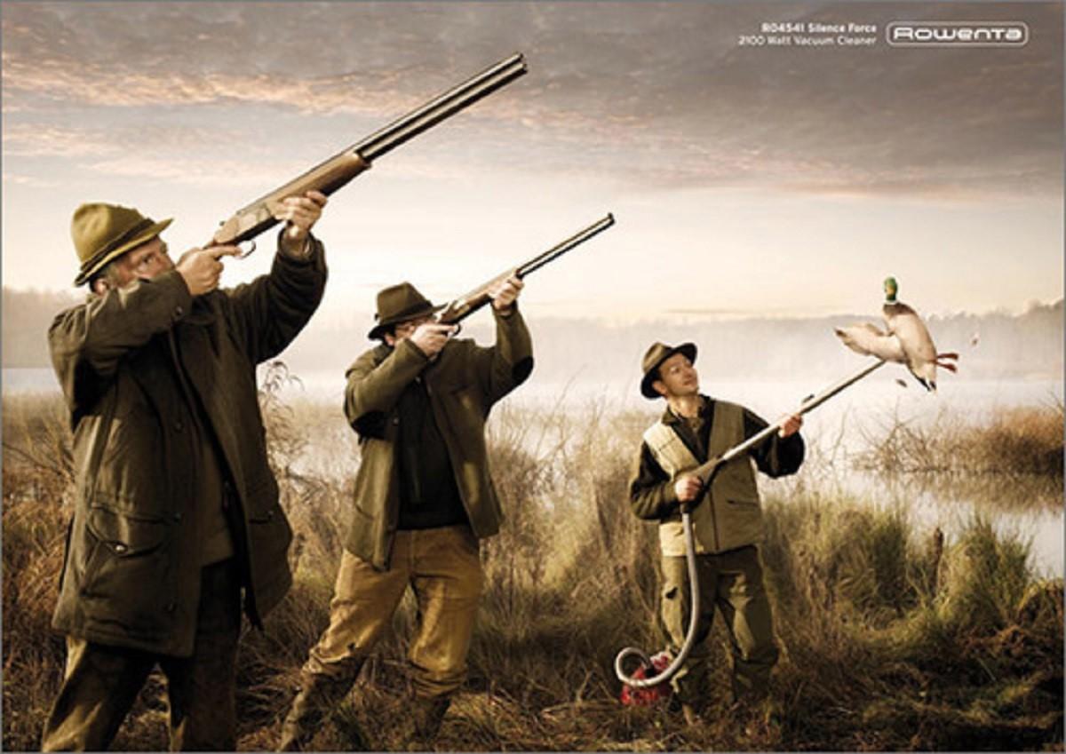 7 campañas publicitarias graciosas con anuncios de cazadores