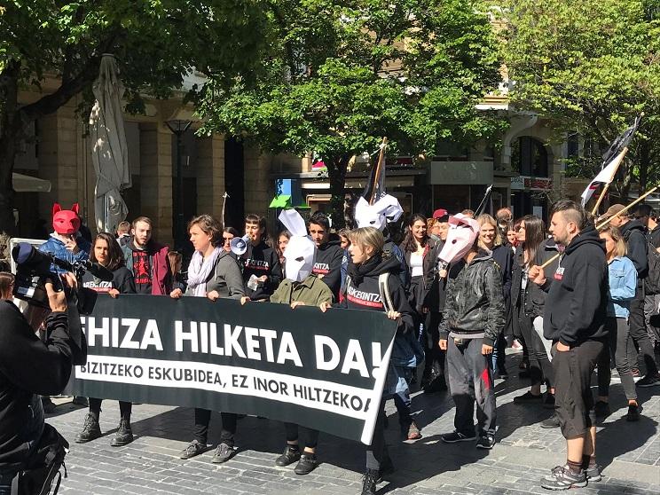 manifestación anticaza
