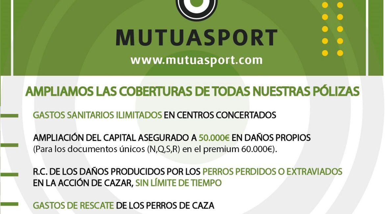 MUTUASPORT amplía las coberturas de todas sus pólizas