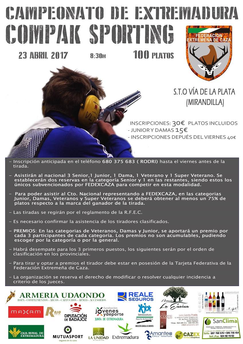 Mirandilla acoge el domingo el Campeonato de Extremadura de Compak Sporting, con 48 tiradores clasificados