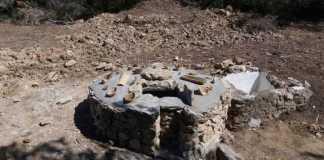 Los cazadores de Gata de Gorgos recuperan un aljibe y 11.000 metros cuadrados de cultivos abandonados