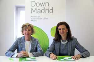 Angélica Rodriguez-López, Directora General de Down Madrid y Ana Rubio, Directora de RR.II y RSC de MAXAM