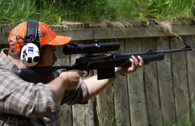 Apuntando con rifle