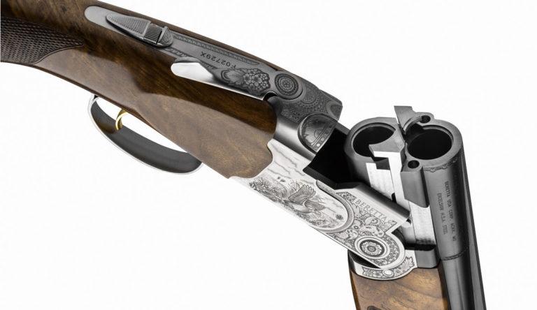 Detalle de la báscula de la nueva Beretta 687 Silver Pigeon III