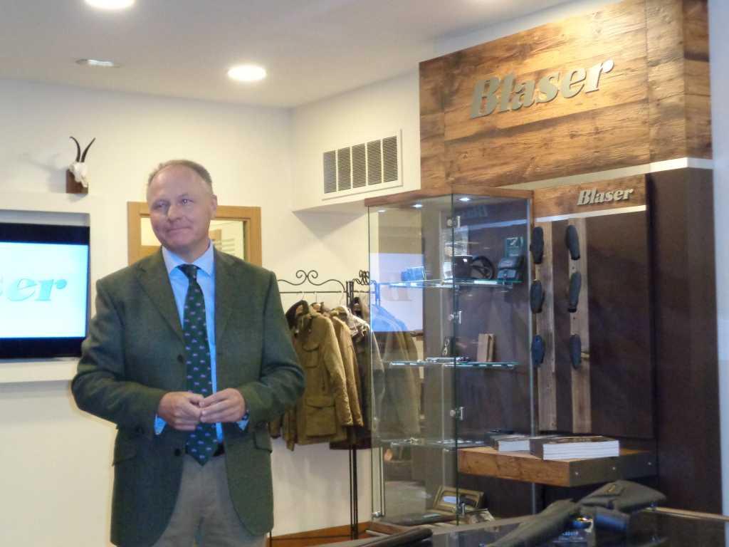 Bernard Knobel, Consejero Delegado del departamento de Caza de L&O Group, y CEO de Blaser III