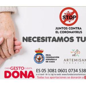 Coronavirus: los cazadores aportan más de 30.000 euros en una semana al proyecto de Cáritas
