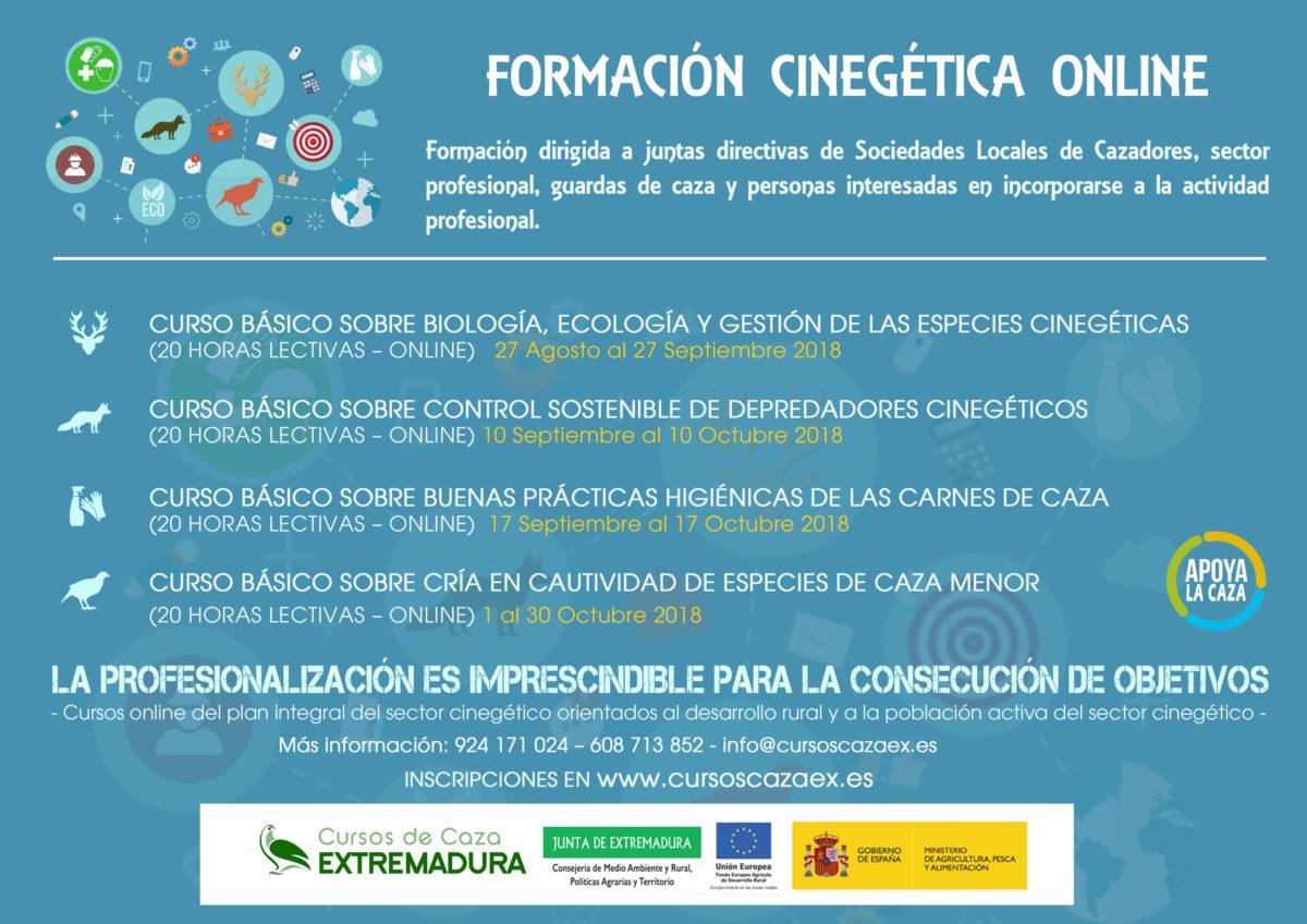 Extremadura oferta cursos de formación gratis para cazadores