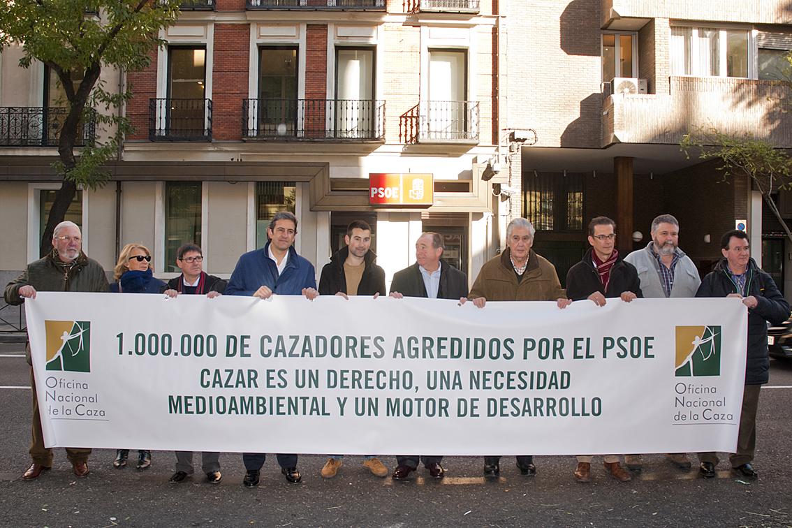 El PSOE rectifica y muestra su apoyo a la caza tras la concentración de la ONC