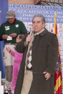 Andrés Gutierrez, presidente de la RFEC, en el Campeonato de España de Caza Menor con Perro 2011 / Foto: Jara y Sedal