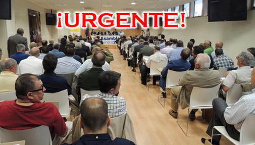 Imagen mostrada por la RFEC en su página web anunciando la cancelación de la Asamblea General