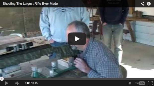 ¿Te atreverías a disparar este rifle? Un auténtico cañonazo…