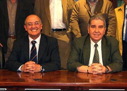 Juan Quiles, a la izquierda, junto a Andrés Gutiérrez en una foto de archivo.
