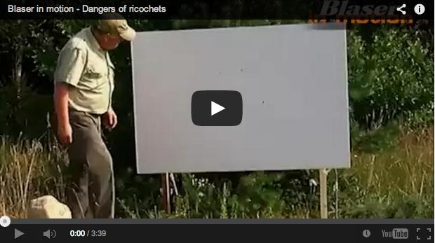 ¡Peligro! Balas de rifle rebotadas – Vídeo de Blaser