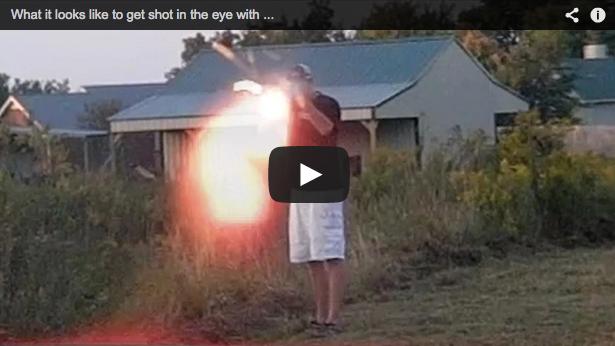 ¿Quieres saber cómo se ve una bala que vuela hacia ti?