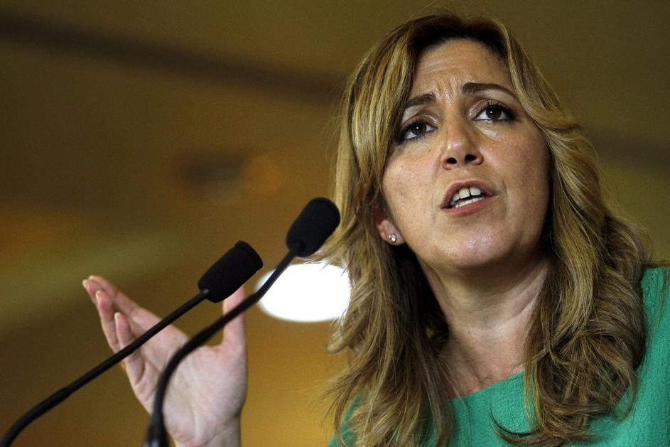 Susana Díaz, presidenta de la Junta de Andalucía, en una reciente aparición pública.