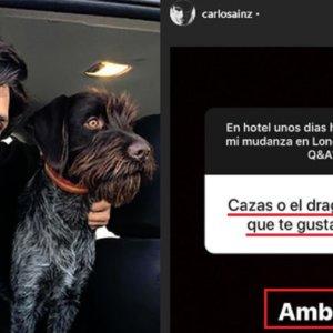 Carlos Sainz junior reconoce que es cazador en Instagram