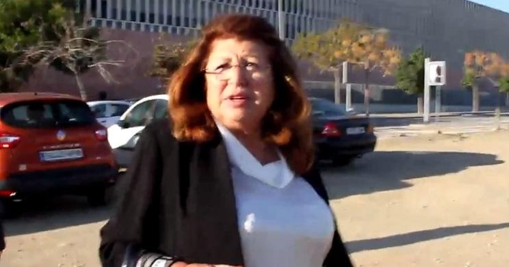 Carmen Marín, dueña de la protectora Parque Animal a la salida de los juzgados