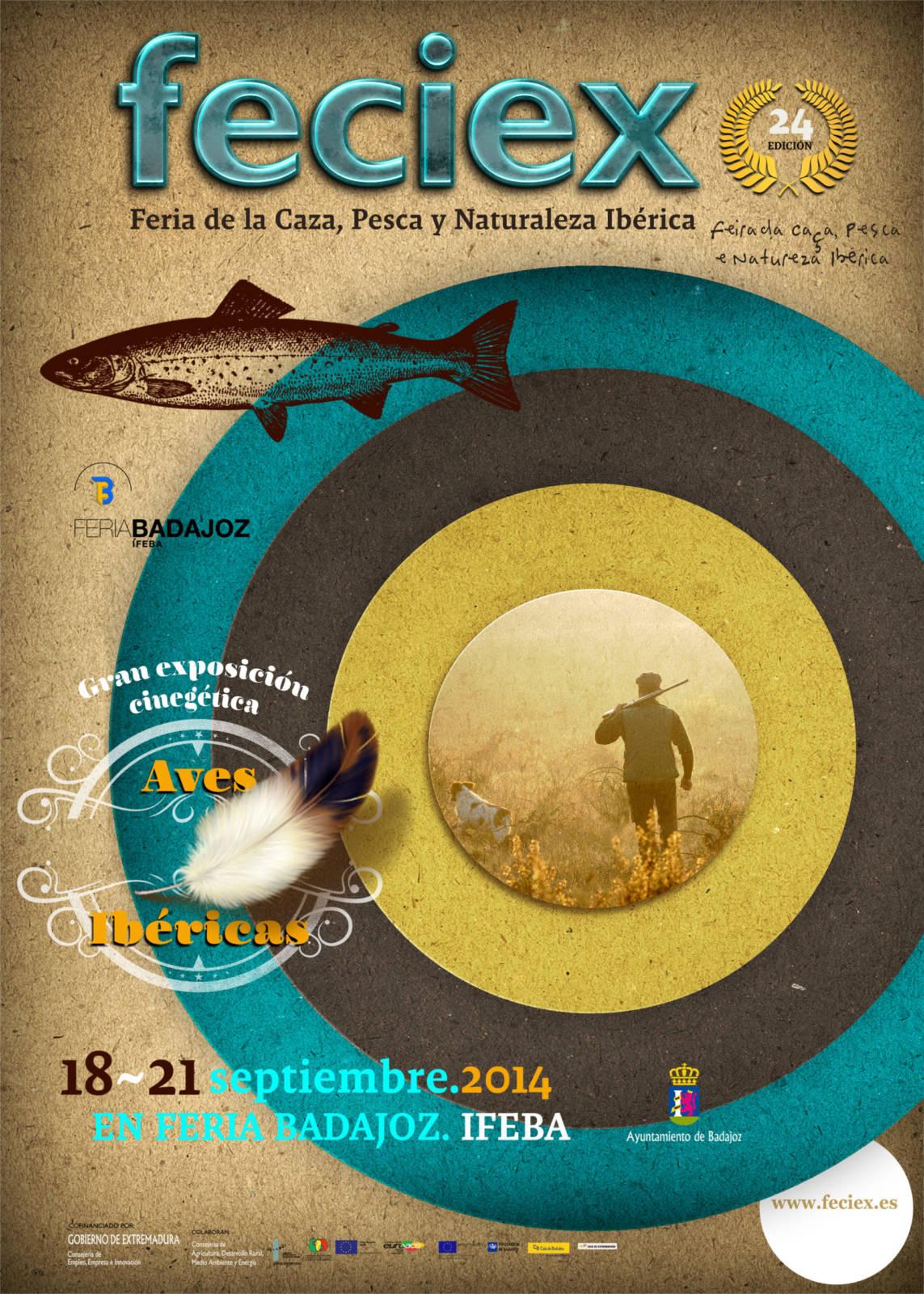 FECIEX, Feria de la Caza, Pesca y Naturaleza Ibérica 2014, celebrará su vigésimo cuarta edición del 18 al 21 de septiembre