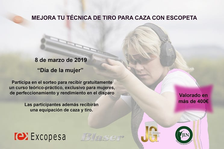 "Cartuchos J&G-Excopesa, Blaser y ""TuEscueladeTiro"" organizan la I Jornada de Tiro con Escopeta exclusivamente para mujeres cazadoras"