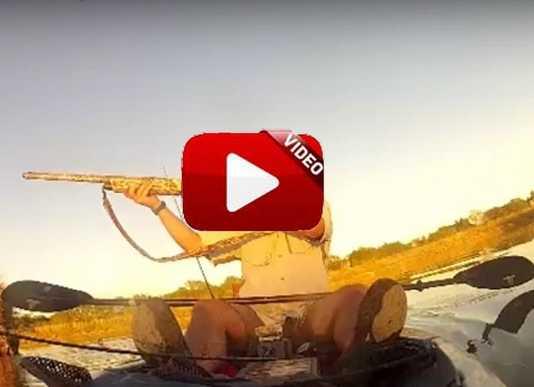 Cazando y pescando a la vez