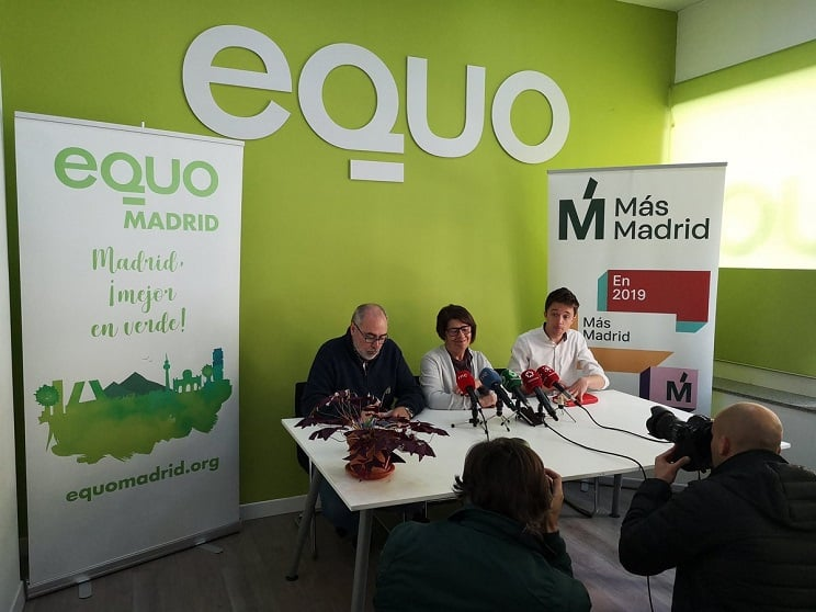 Los ecologistas de Equo abandonan a Podemos y se presentan con Errejón en Madrid