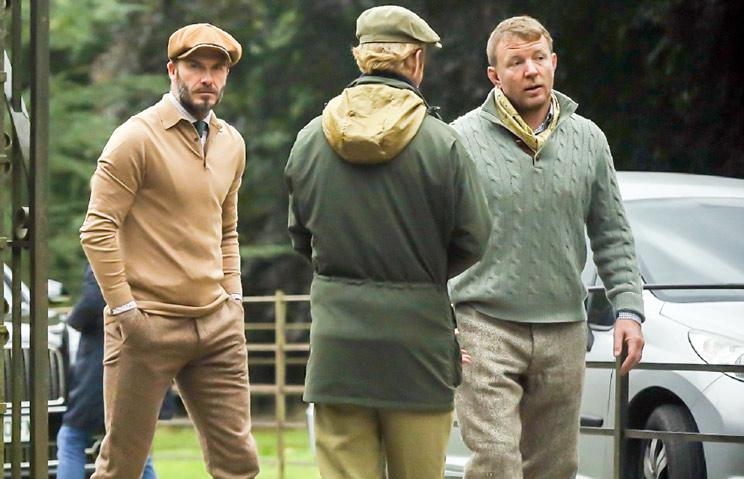 David Beckam estrena la temporada cazando perdices
