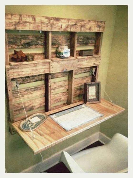 Escritorio madera rústico