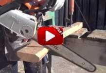 Este tipo es capaz de tallar con una motosierra ¡una culata para su rifle!.